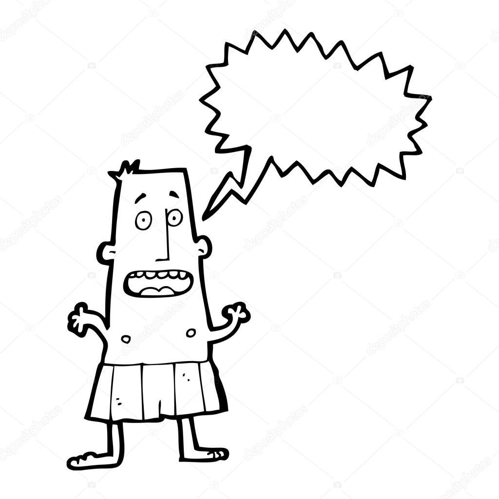6129b5df32e Άνθρωπος σε μποξεράκια — Διανυσματικό Αρχείο © lineartestpilot #20412387