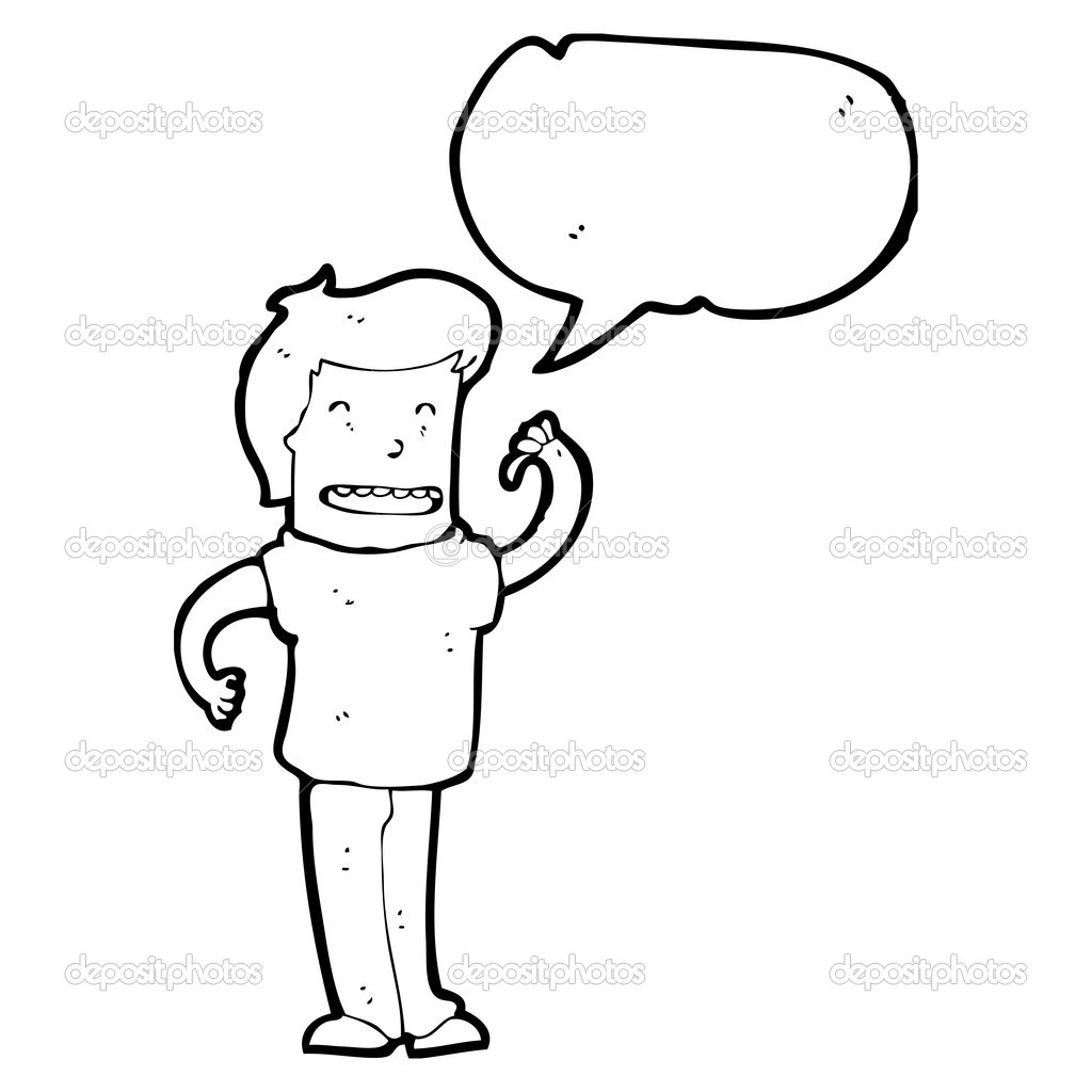 confident man pointing at self stock vector lineartestpilot