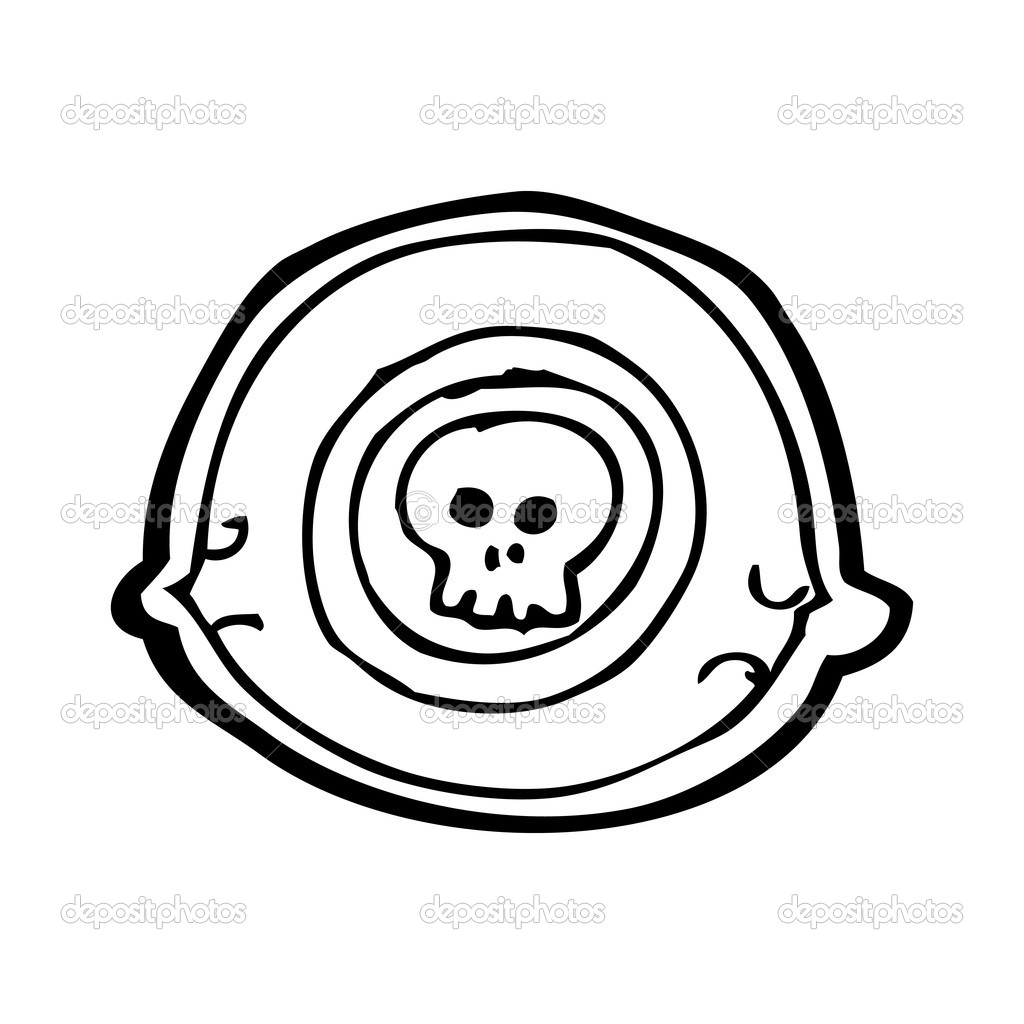 Spooky Eye With Skull Stock Vector Lineartestpilot 20414397