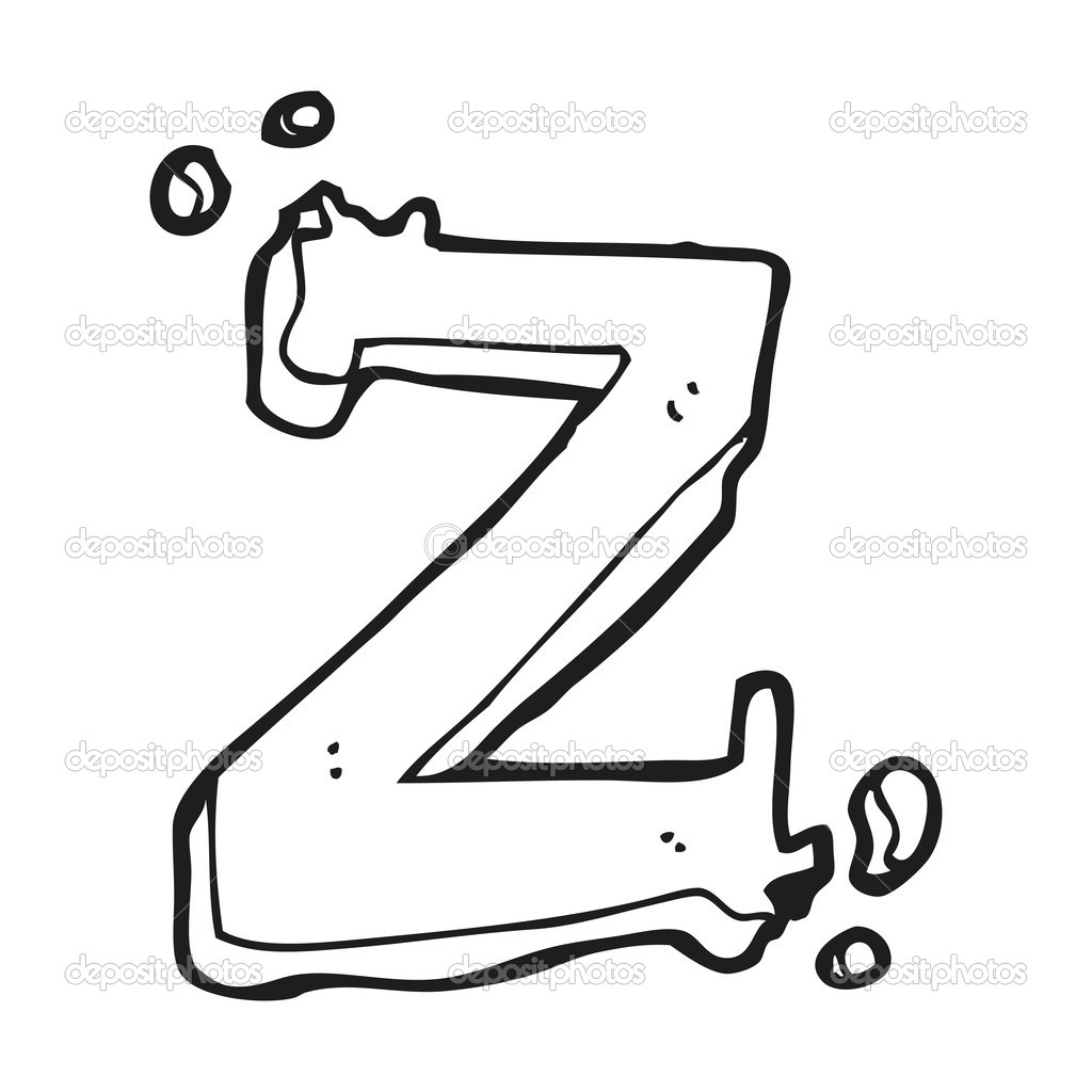 Cartone animato lettera z — vettoriali stock