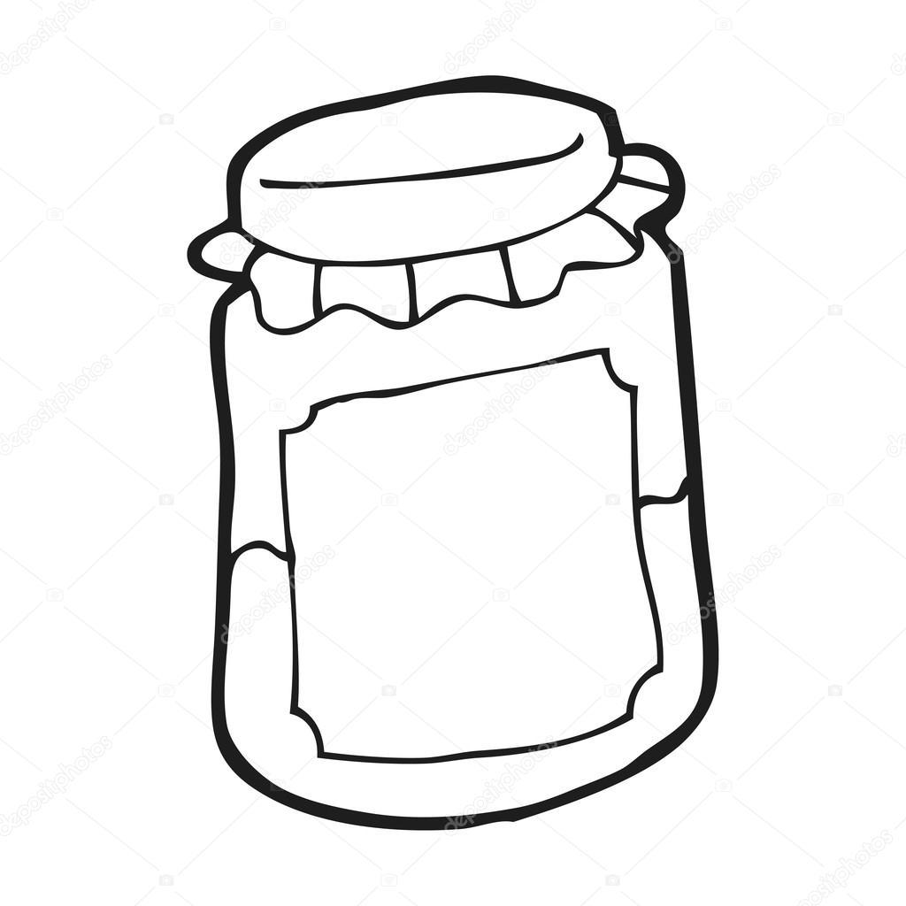 pot de confiture de dessin anim 233 image vectorielle 20415159