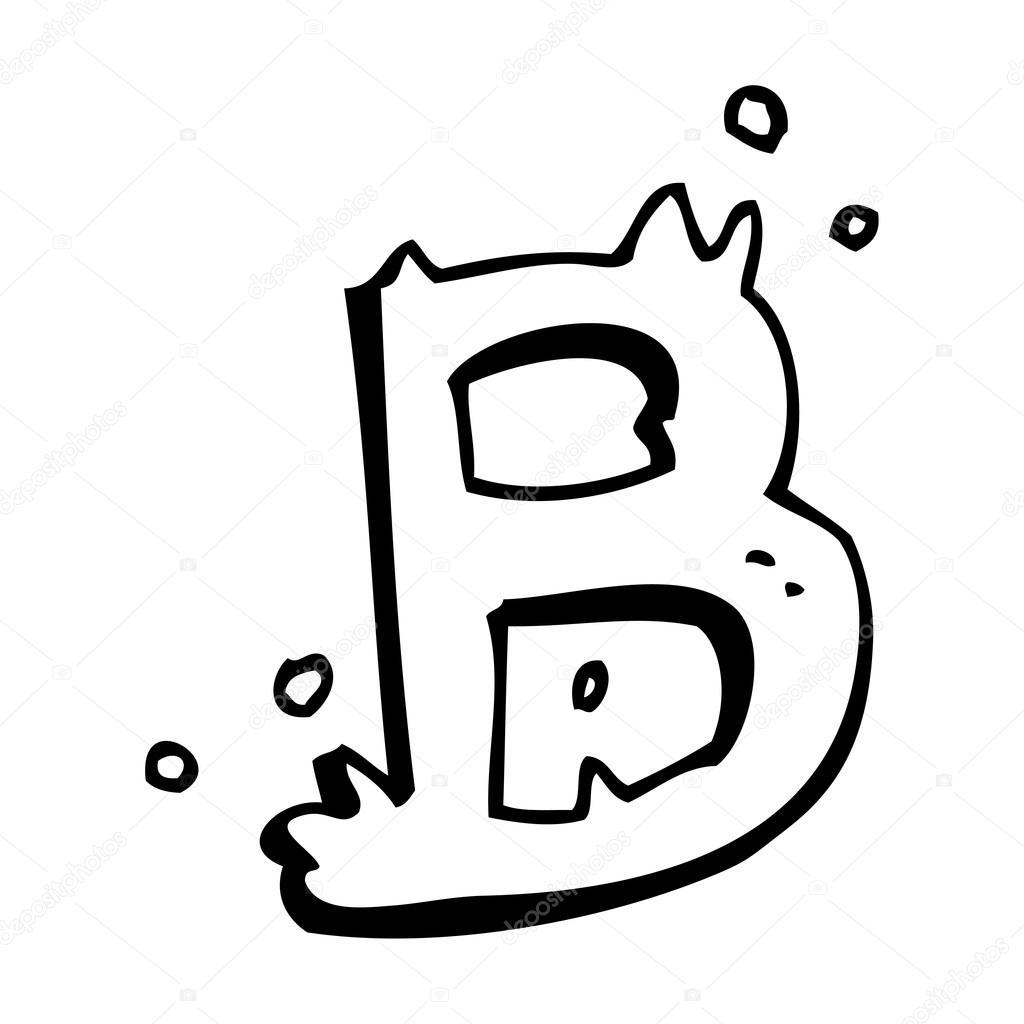 desenhos animados letra b vetor de stock lineartestpilot 20415641