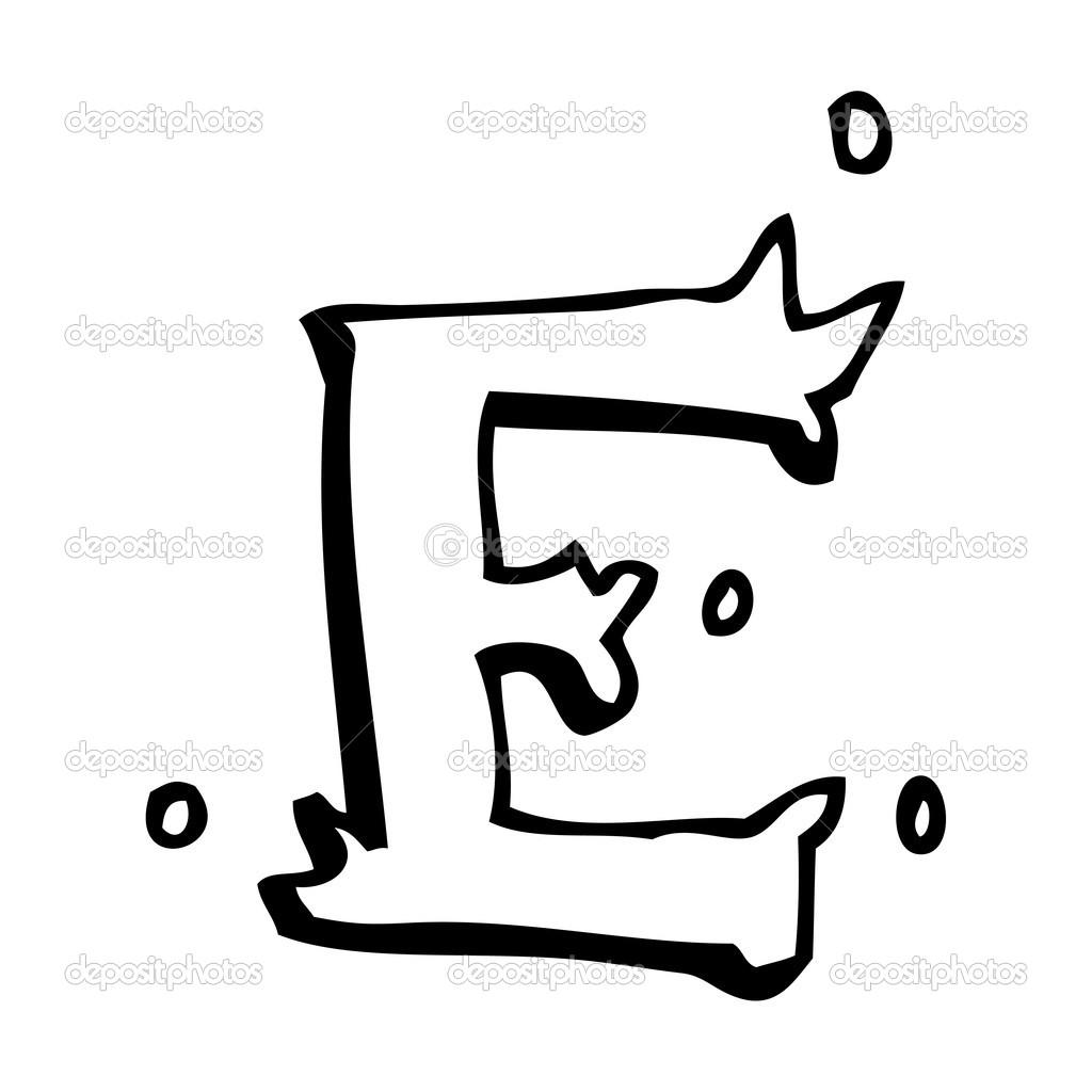 desenhos animados letra e vetor de stock lineartestpilot 20416133