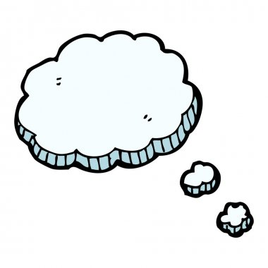 Vector, cartoon decorative thought cloud on a white background clip art vector