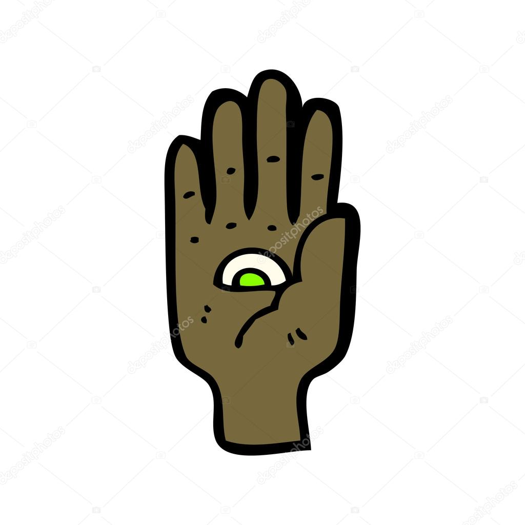 Eye In Hand Sign Stock Vector Lineartestpilot 20947349