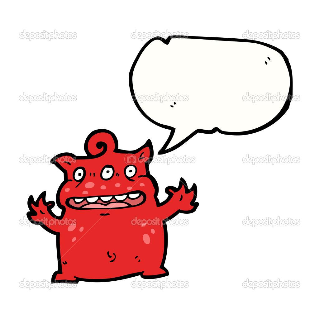 Piccolo Demone Vettoriali Stock Lineartestpilot 21039999