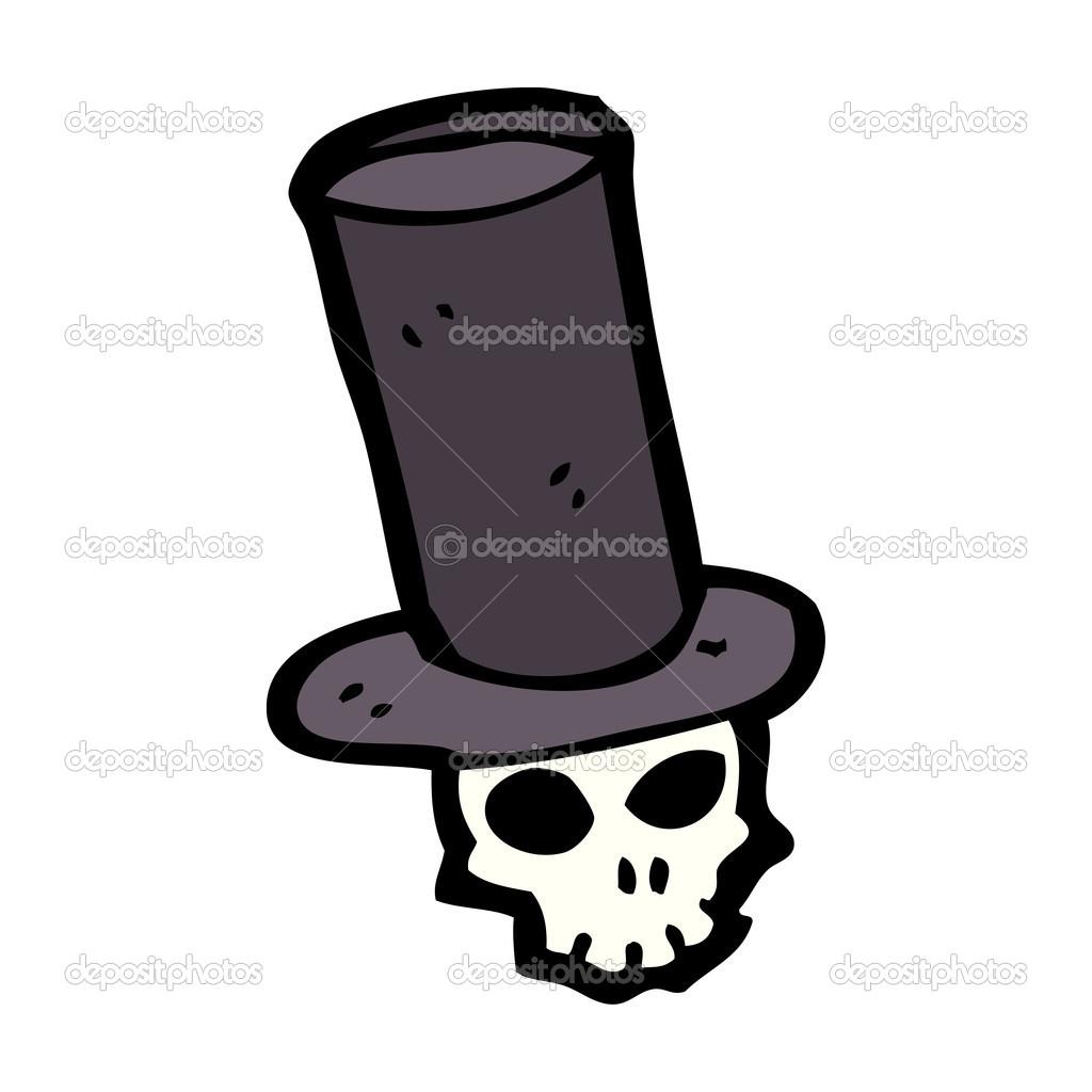 Calavera con sombrero de copa — Archivo Imágenes Vectoriales ... c1d3c8e1102