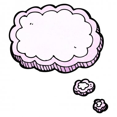 Vector, thought bubble, on a white background clip art vector
