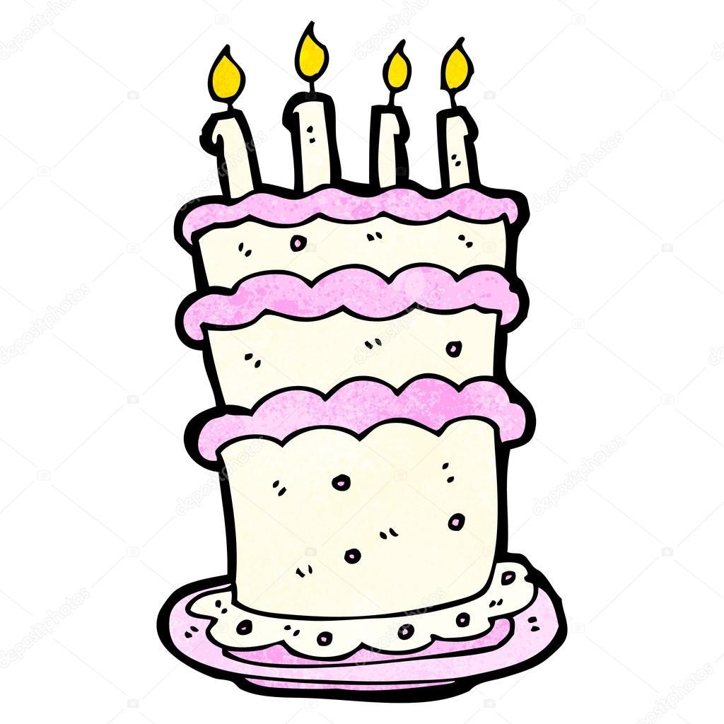 Birthday Cake Cartoon Stock Vector C Lineartestpilot 21168893