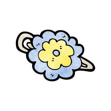 flower hair clip cartoon