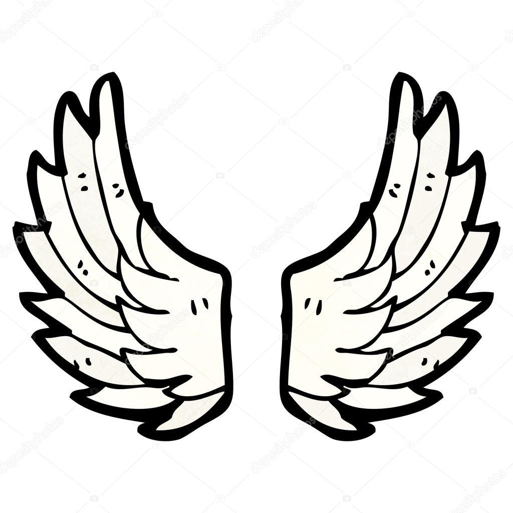 Ailes D Ange Dessin ailes d'ange — image vectorielle lineartestpilot © #21401197