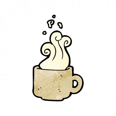 Steamy Tan Coffee Mug