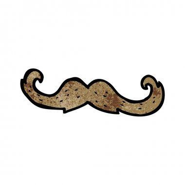 curly mustache cartoon