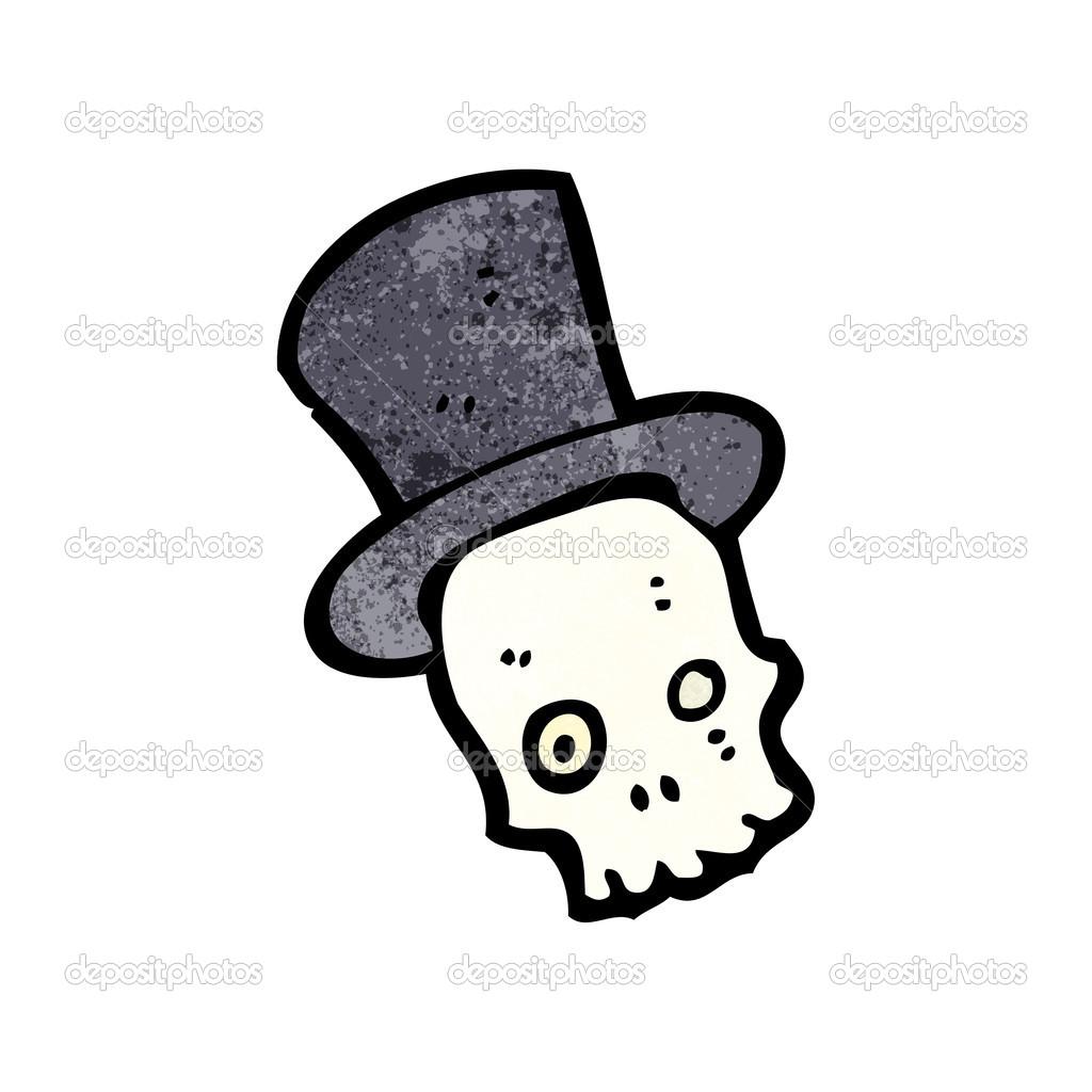 Divertente cartone animato di teschio halloween