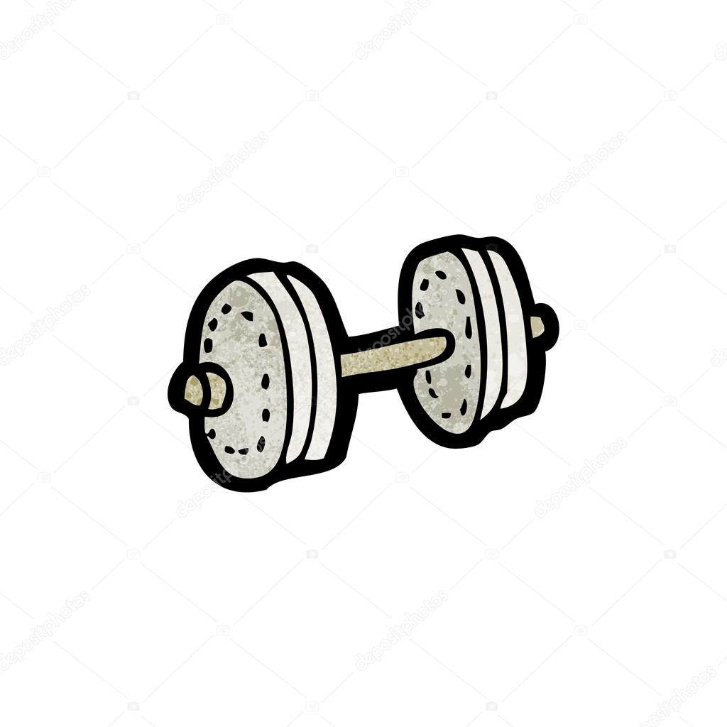Cartoon dumbbell — Stock Vector © lineartestpilot #21475821