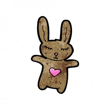 Brown rabbit cartoon