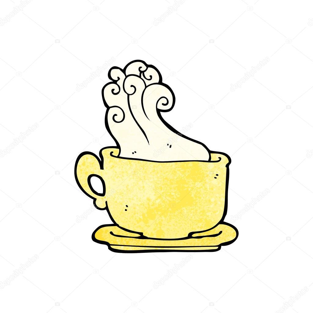 Dessin Tasse De Café Fumant tasse fumante de dessin animé café — image vectorielle