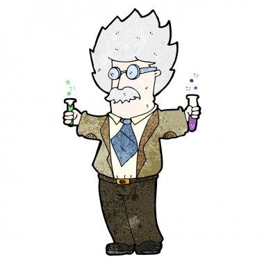 Genius scientist cartoon