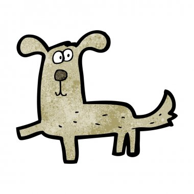 Cartoon funny dog walking clip art vector
