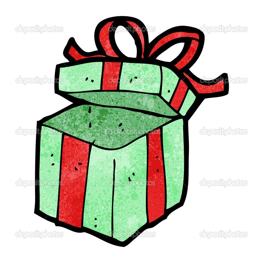 open present clipart. open present cartoon u2014 stock vector 21546181 clipart