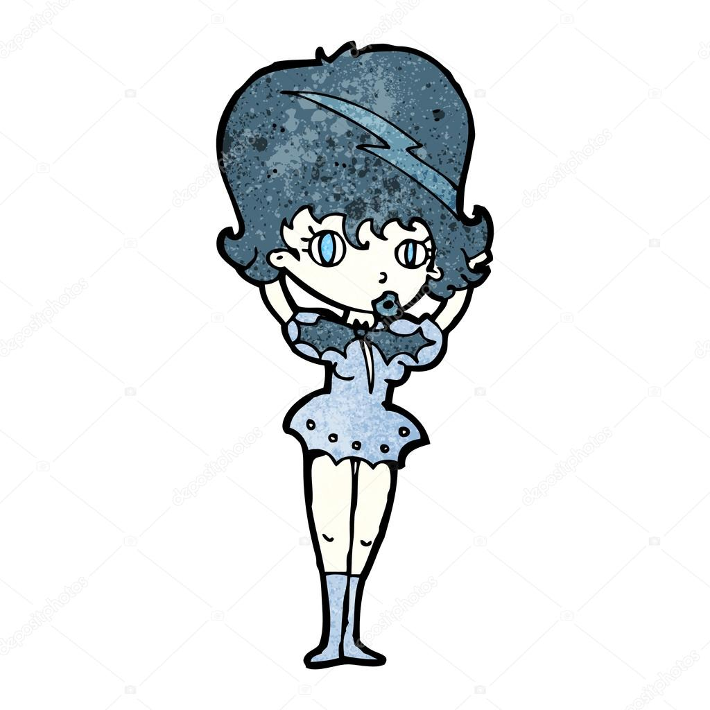 desenho de menina bonita vampira vetores de stock