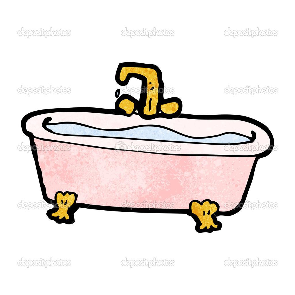 Cartoon Badewanne Mit Wasser Stockvektor Lineartestpilot 21548767