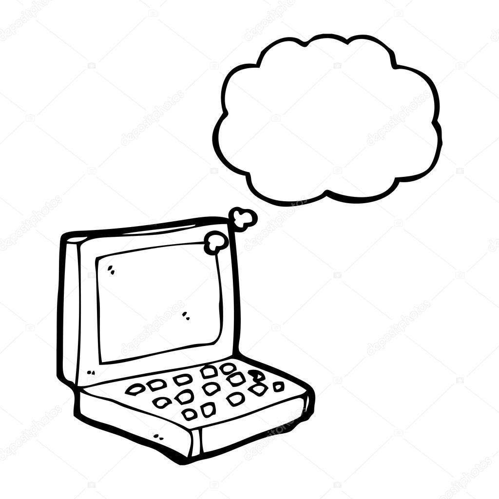 Ordinateur Portable Dessin Anime Image Vectorielle Lineartestpilot