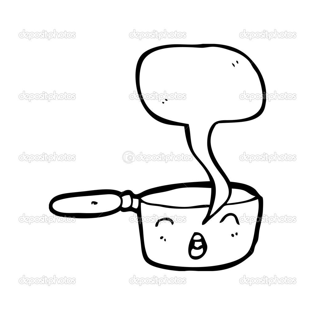 Dessin Casserole Cuisine casserole de cuisine — image vectorielle lineartestpilot © #21562503