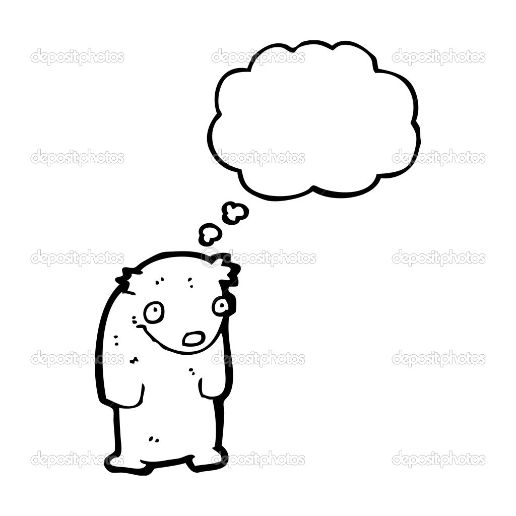 envergonhado ursinho dos desenhos animados vetor de stock