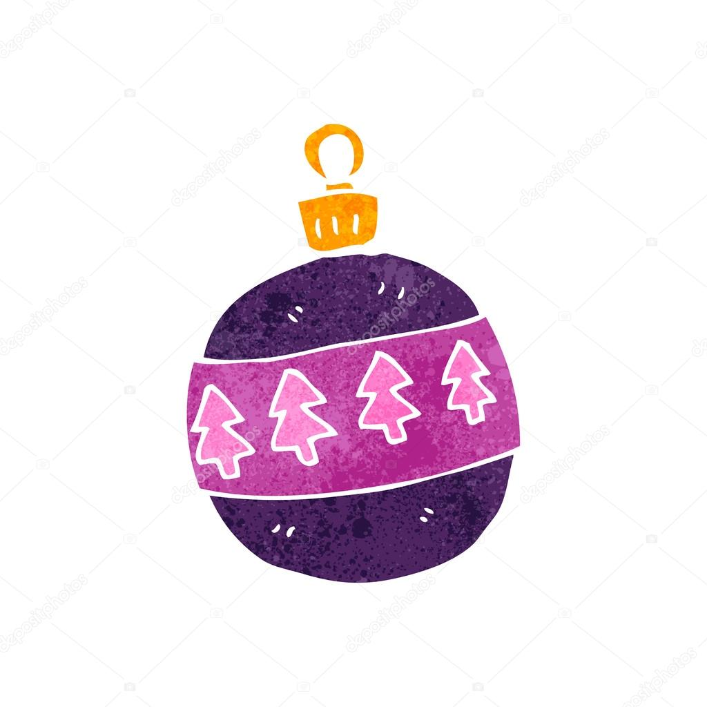 Christbaumkugeln Retro.Retro Cartoon Christmas Tree Decoration Stock Vector