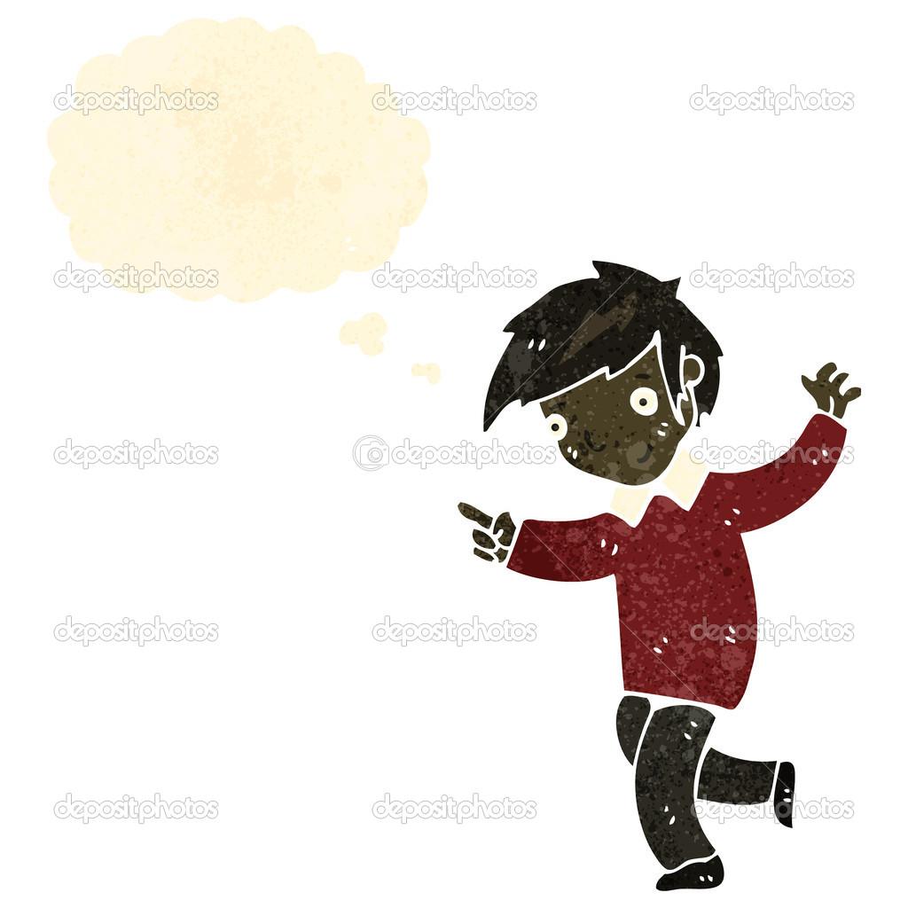 Retro Cartoon Dancing Boy Stock Vector