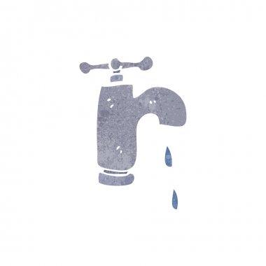 Retro cartoon dripping faucet