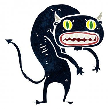 Retro cartoon scary monster