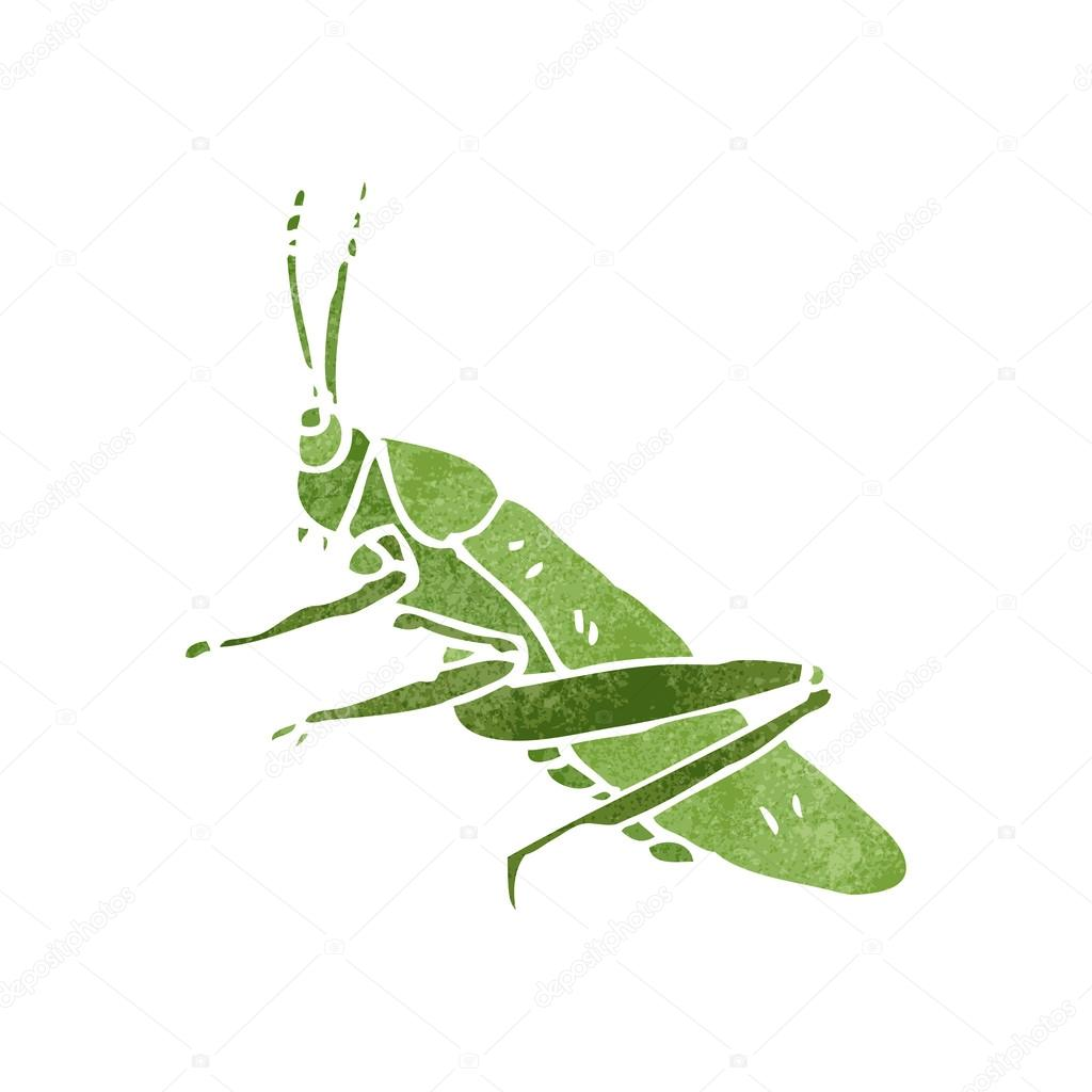 grasshopper vector. retro cartoon grasshopper \u2014 stock vector #29034749