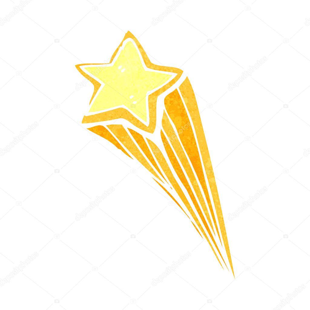 étoile Filante Dessin Animé Image Vectorielle