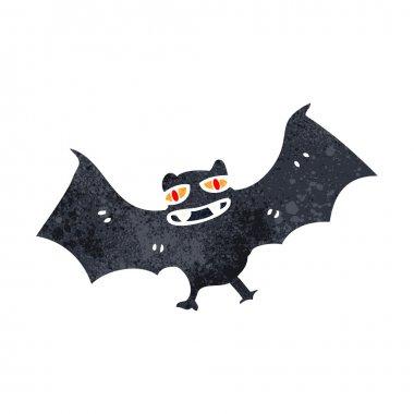 Retro cartoon spooky halloween bat