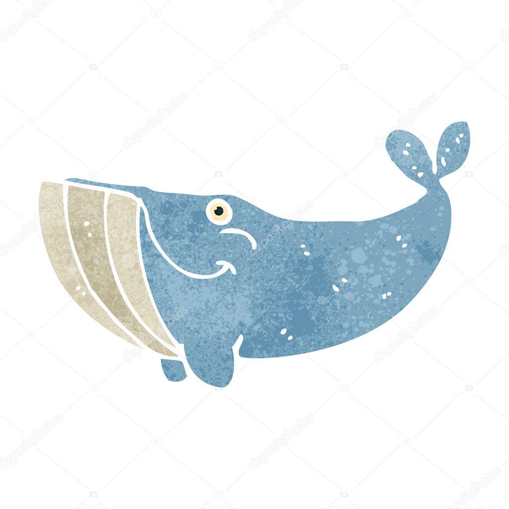 retro cartoon whale stock vector 29043619