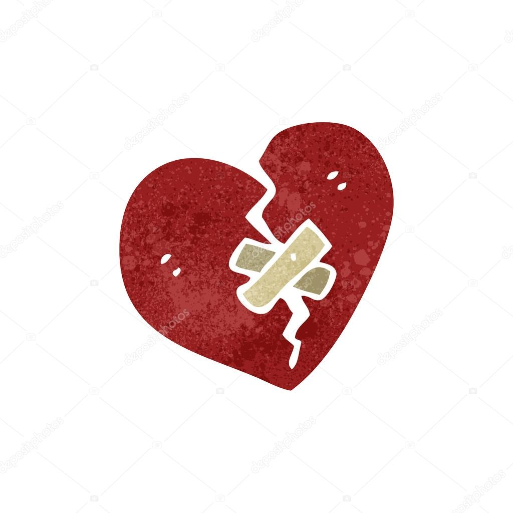Retro cartoon broken heart symbol stock vector lineartestpilot retro cartoon broken heart symbol stock vector buycottarizona