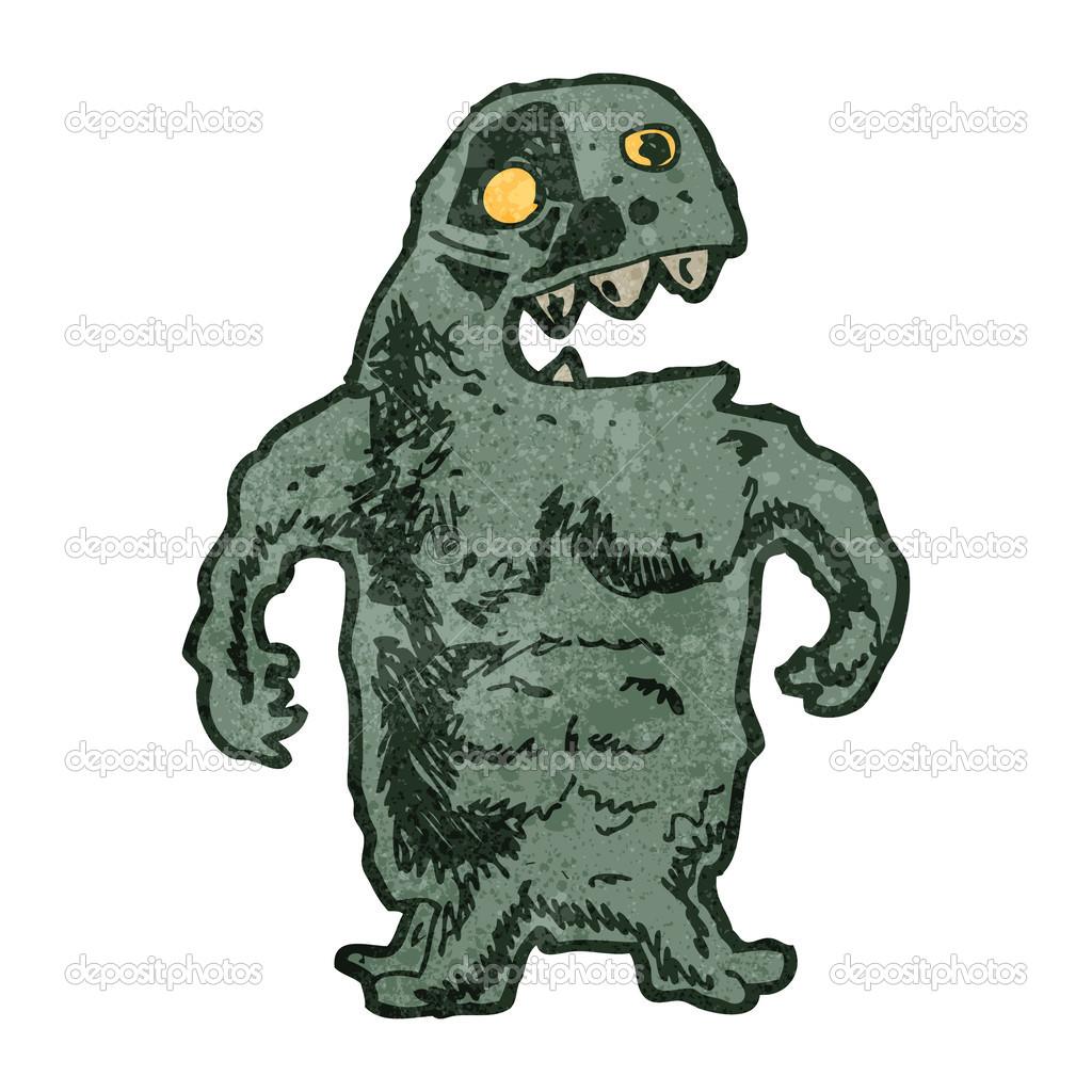 Cartone animato monster u vettoriali stock lineartestpilot