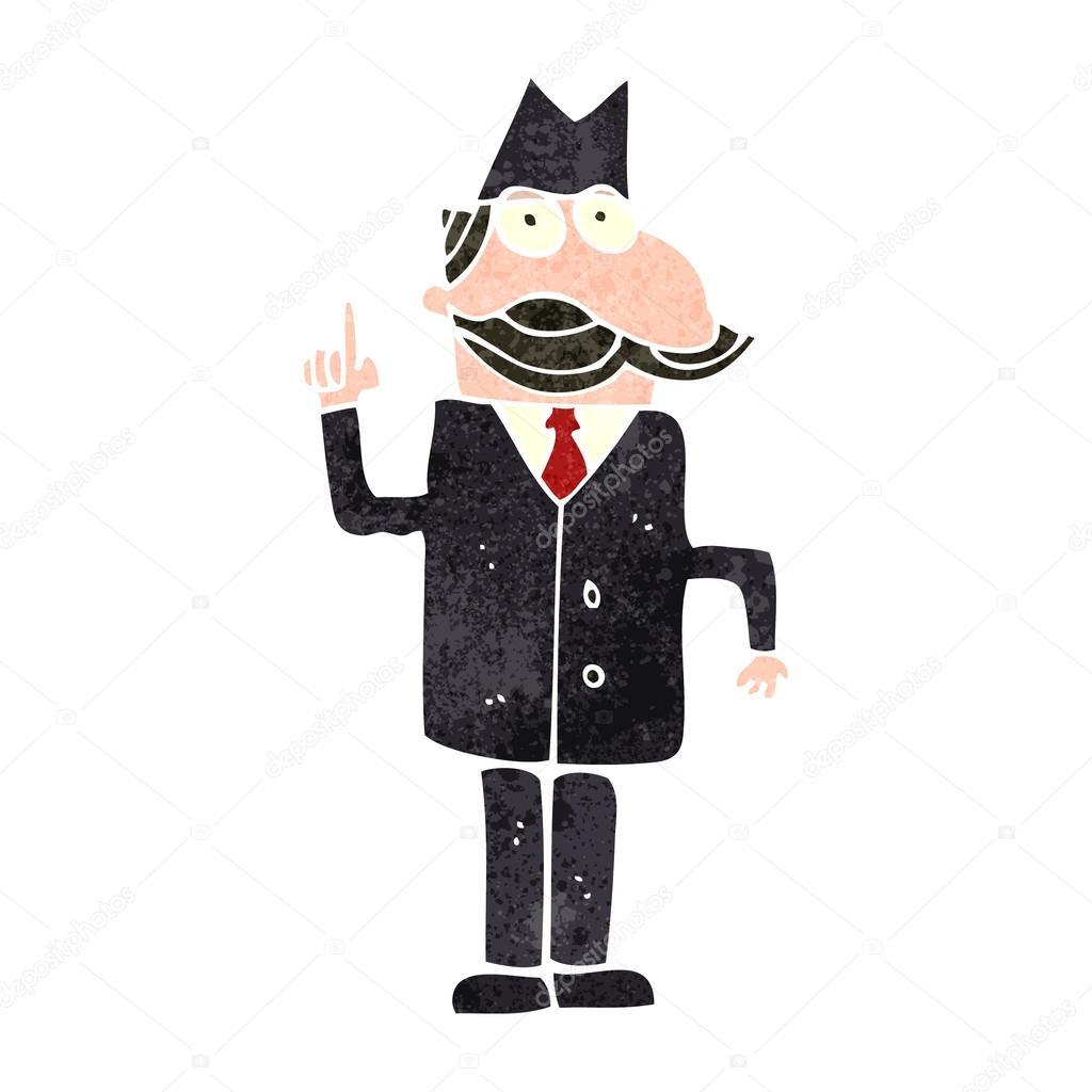 Investigatore privato dei cartoni animati u vettoriali stock