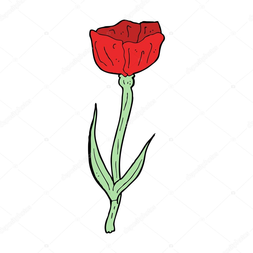 Cartoon Poppy Flower Stock Vector Lineartestpilot 36168825