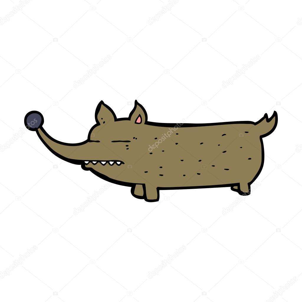 Animato cartone naso lungo cane cartone animato con naso lungo