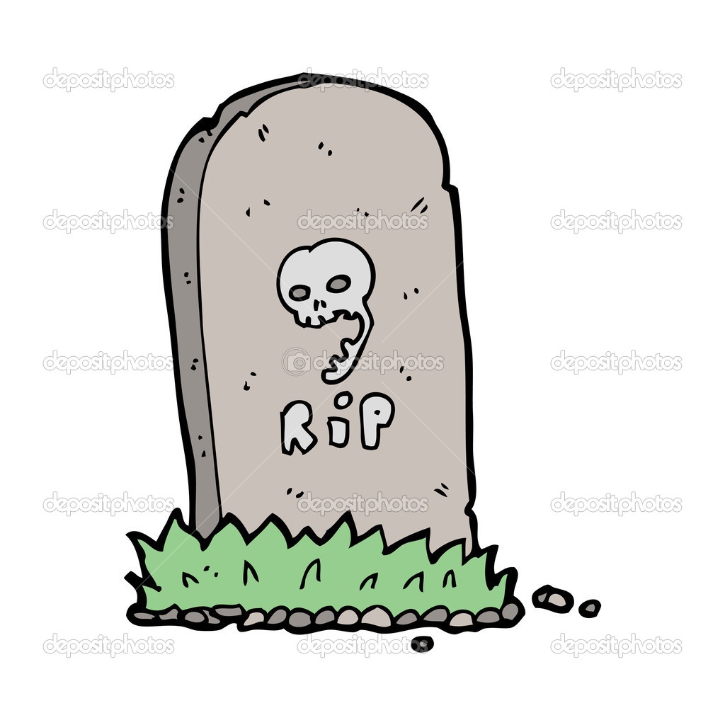 Pierre tombale de dessin anim image vectorielle lineartestpilot 36211855 - Pierre tombale dessin ...