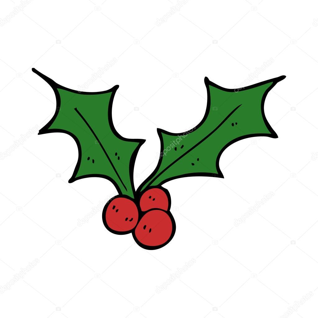 Christmas Holly Cartoon.Cartoon Christmas Holly Stock Vector C Lineartestpilot