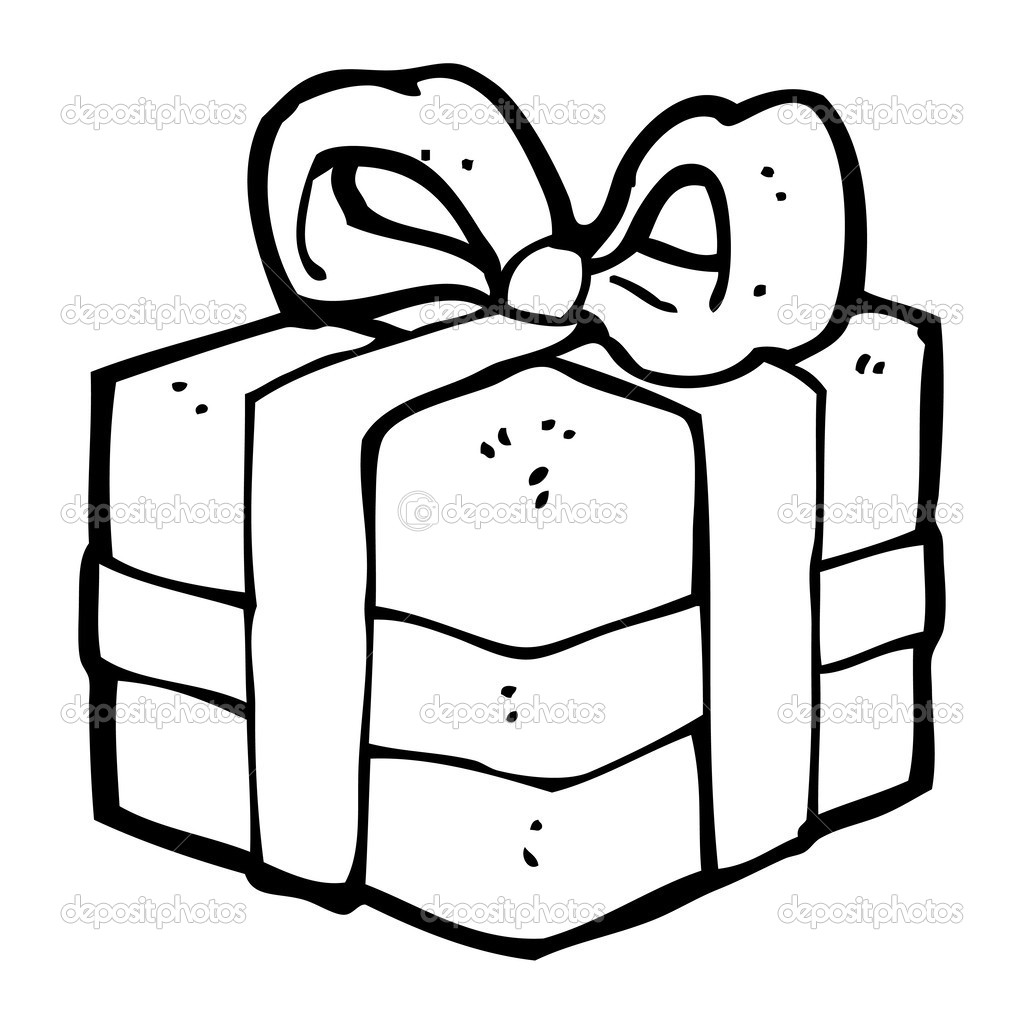 Cadeau De Noel De Dessin Anime Image Vectorielle Lineartestpilot