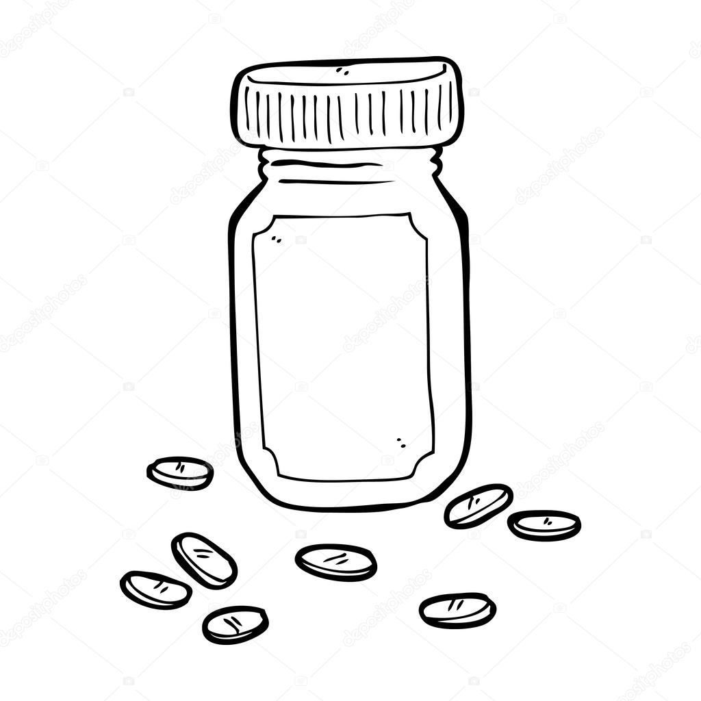 cartoon jar of pills stock illustration illustration of
