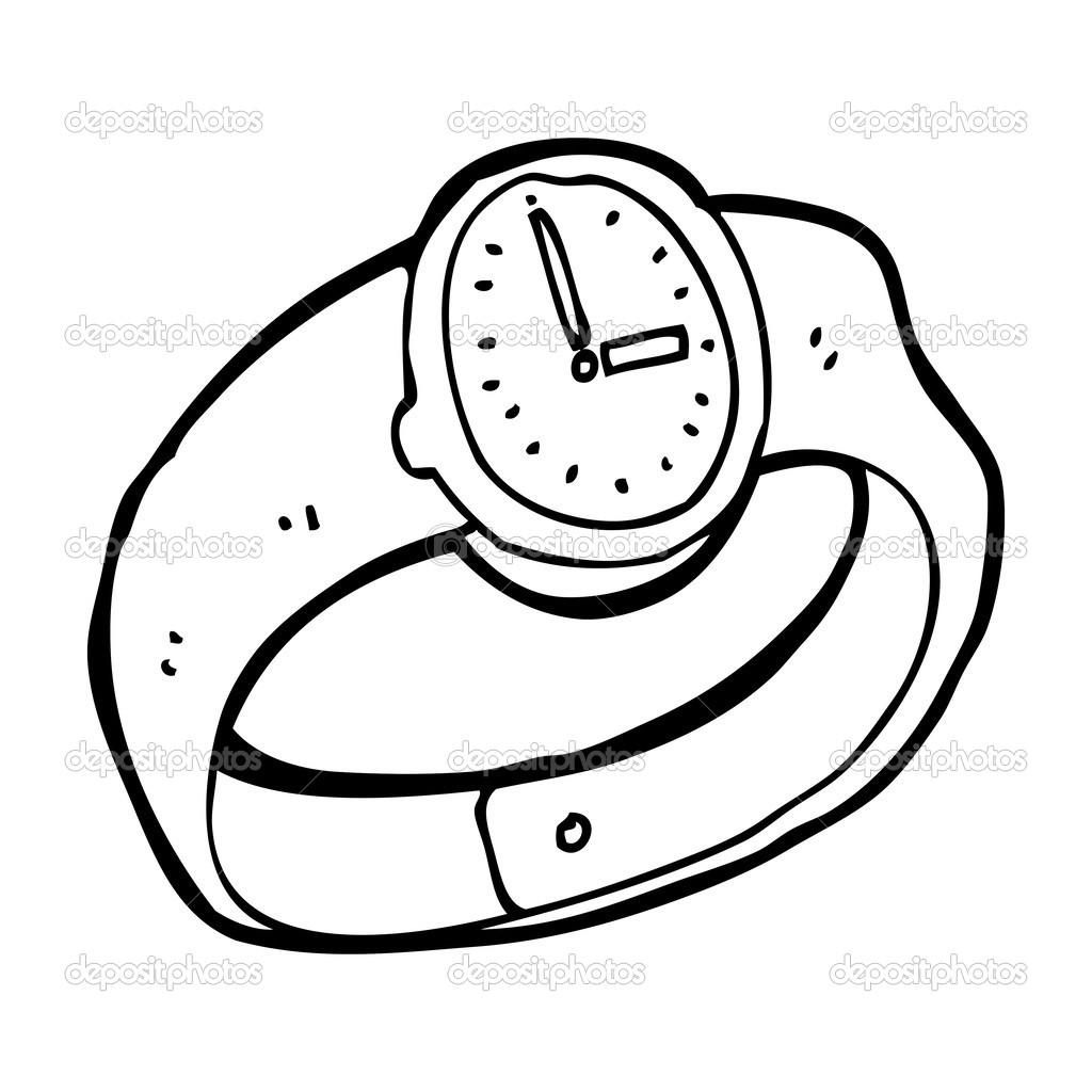 Armbanduhr gezeichnet  Armbanduhr — Stockvektor #38427019