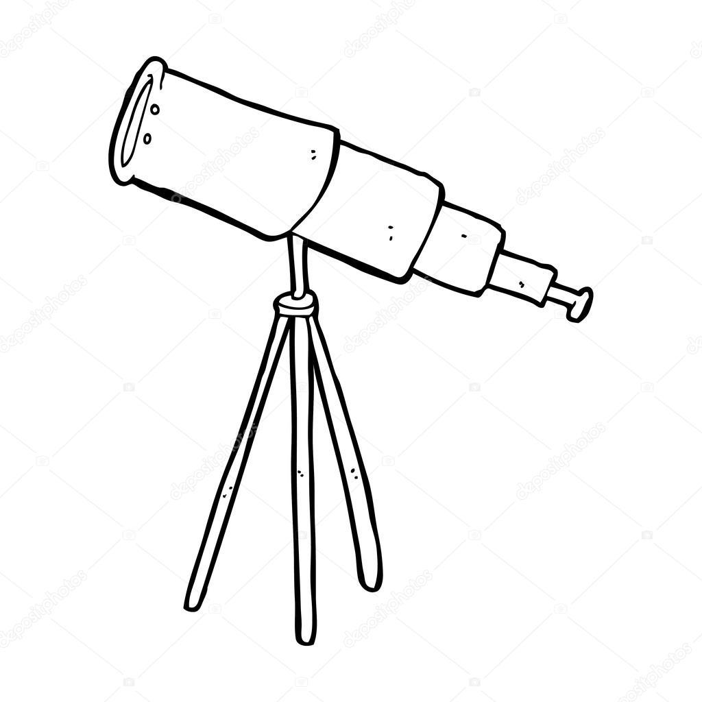 Telescopio de dibujos animados — Vector de stock #38427213 ...