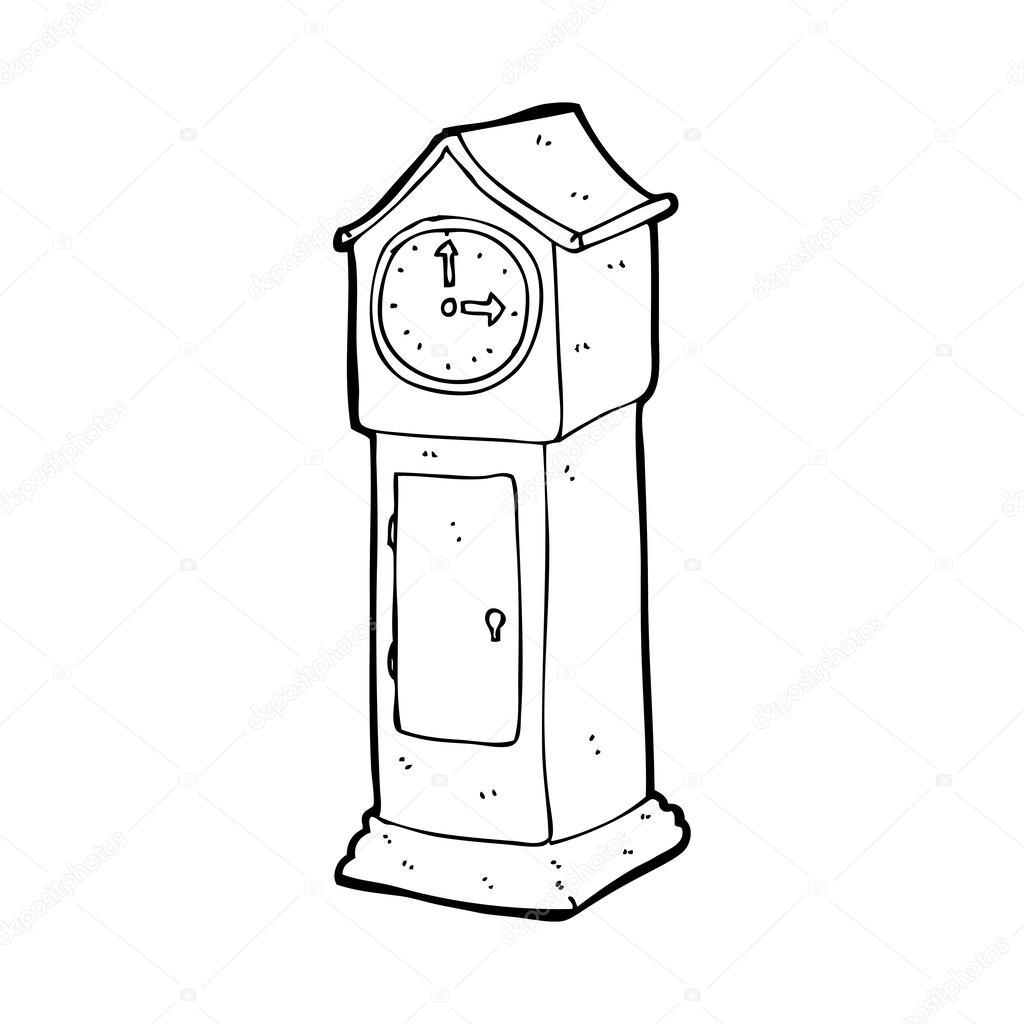Standuhr gezeichnet  Standuhr — Stockvektor #38437441