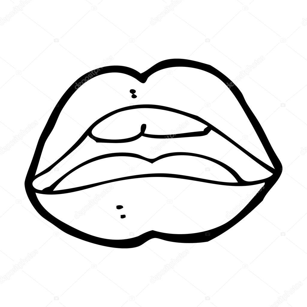 símbolo de desenhos animados de boca aberta vetores de stock